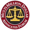 Logo Recognizing Clark & Steinhorn, LLC's affiliation with Multi-Million Dollar Advocates Forum