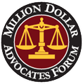 Logo Recognizing Clark & Steinhorn, LLC's affiliation with Million Dollar Advocates Forum