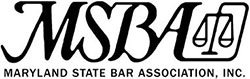 Logo Recognizing Clark & Steinhorn, LLC's affiliation with Maryland State Bar Association, Inc.